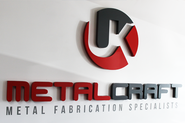 A UK Metalcraft Sign featuring their logo and strap-line
